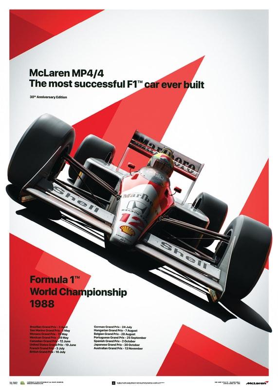 Automobilist - McLaren MP4 4 - Ayrton Senna - MP4 4 - San Marino GP ... b1c71e002f15