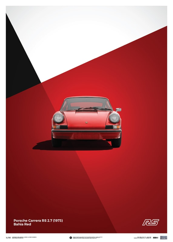 Porsche 911 RS - Red - Limited Poster