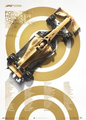 FORMULA 1® - 1000TH GRAND PRIX™ - GOLD - 2019 - U&L EDITION POSTER - UNIQUE & LIMITED POSTERS