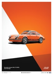 PORSCHE 911 RS - ORANGE - LIMITED POSTER - DESIGN POSTERS