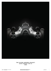AUTO UNION TYPE D - SILVER - 1939 - POSTER - DESIGN POSTERS