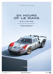 FORD GT40 - BLUE - 24H LE MANS - 1966 - LIMITED POSTER - DESIGN POSTERS