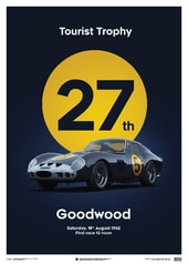 FERRARI 250 GTO - DARK BLUE - GOODWOOD TT - 1962 - LIMITED POSTER - DESIGN POSTERS