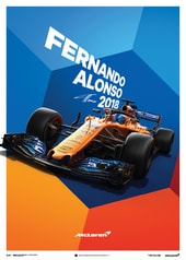 MCLAREN  - FERNANDO ALONSO - MCL33 - 2018 - POSTER - DESIGN POSTERS