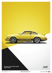 PORSCHE 911 RS - YELLOW - LIMITED POSTER - DESIGN POSTERS