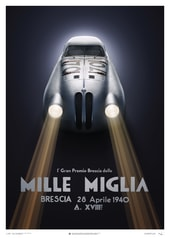 BMW 328 - SILVER - MILLE MIGLIA - 1940 - U&L EDITION POSTER - UNIQUE & LIMITED POSTERS