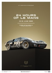 FORD GT40 - BLACK - 24H LE MANS - 1966 - LIMITED POSTER - DESIGN POSTERS