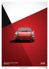 PORSCHE 911 RS - RED - LIMITED POSTER - DESIGN POSTERS