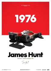 MCLAREN M23 - JAMES HUNT - MARLBORO - JAPANESE GP - 1976 - LIMITED POSTER - DESIGN POSTERS