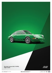 PORSCHE 911 RS - GREEN - LIMITED POSTER - DESIGN POSTERS