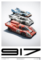PORSCHE 917 - SALZBURG & MARTINI & GULF - 24H LE MANS - LIMITED POSTER - DESIGN POSTERS
