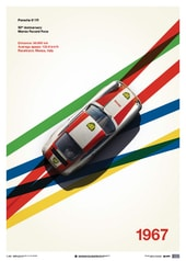PORSCHE 911R - BP RACING - MONZA - 1967 - LIMITED POSTER - DESIGN POSTERS