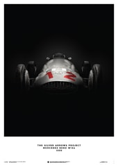 MERCEDES BENZ W154 - SILVER - 1938 - POSTER - DESIGN POSTERS