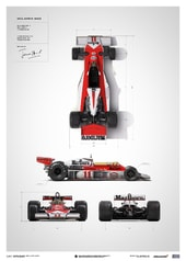 MCLAREN M23 - JAMES HUNT - BLUEPRINT - JAPANESE GP - 1976 - LIMITED POSTER - DESIGN POSTERS