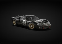 FORD GT40 - BLACK - 24H LE MANS - 1966 - COLORS OF SPEED POSTER - COLORS OF SPEED POSTERS