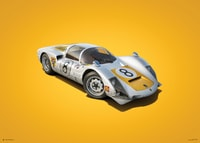 PORSCHE 906 - WHITE - JAPANESE GP - 1967 - COLORS OF SPEED POSTER - COLORS OF SPEED POSTERS