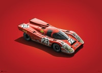 PORSCHE 917 - SALZBURG - 24H LE MANS - 1970 - COLORS OF SPEED POSTER - COLORS OF SPEED POSTERS