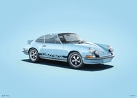 PORSCHE 911 RS - BLUE - COLORS OF SPEED POSTER - COLORS OF SPEED POSTERS
