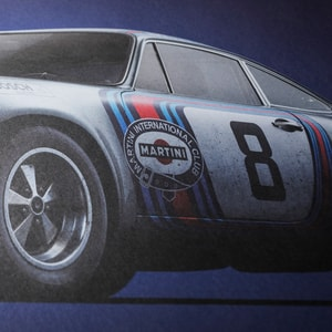 Porsche 911 RSR - Martini - Targa Florio - 1973 - Colors of Speed Poster