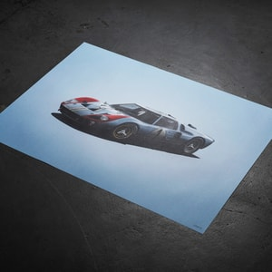 Ford Gth Le Mans  Colors Of Speed Poster