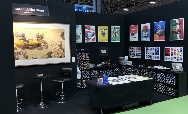 Automobilist at Salon Retromobile 2019 in Paris